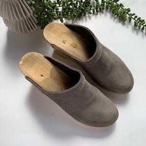 Vintage Shoes - Leather Swedish Clogs - Vintage Size 40